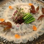 """Blowfish (Fugu) cuisine"" Japanese high-class dishes"